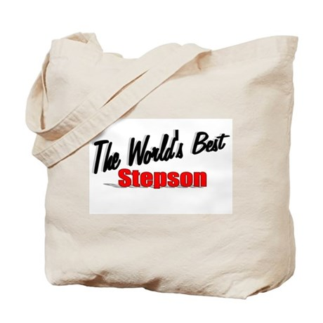 """The World's Best Stepson"" Tote Bag"