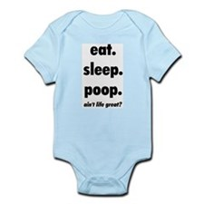 Eat. Sleep. Poop. Infant Creeper