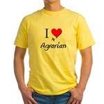 I Love My Agrarian Yellow T-Shirt