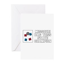 Missouri Bag Toss State Champ Greeting Cards (Pk o