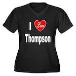 I Love Thompson (Front) Women's Plus Size V-Neck D