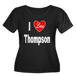 I Love Thompson (Front) Women's Plus Size Scoop Ne