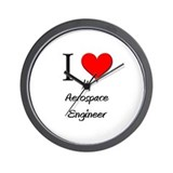I Love My Aerospace Engineer Wall Clock