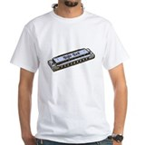 Mojo Man Bluesharp White T-shirt