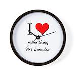 I Love My Advertising Art Director Wall Clock