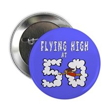 """Flying High at 50 2.25"""" Button"""