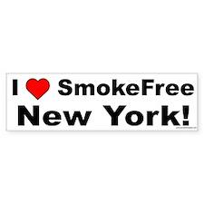 Bumper Sticker: I Love SmokeFree New York!