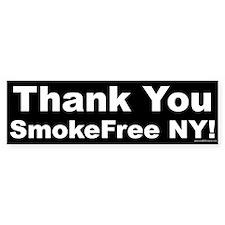 Bumper Sticker: Thank You SmokeFree NY! (Black)