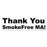 Bumper Sticker: Thank You SmokeFree MA!
