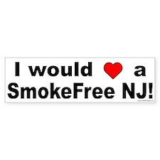 Bumper Sticker: I would Love a SmokeFree NJ!