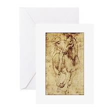 Leonardo da Vinci Horse Rider Greeting Cards (Pk o