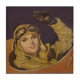 1928 Aviatrix Tile Coaster