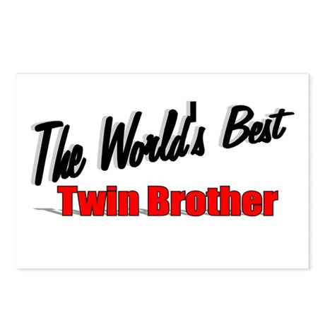 """The World's Best Twin Brother"" Postcards (Package"
