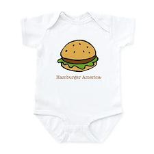 Cute Hamburger Infant Bodysuit