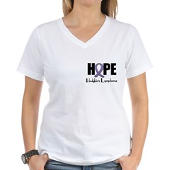 Hope-Hodgkin's Disease Women's V-Neck T-Shirt