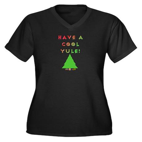 Cool Yule Women's Plus Size V-Neck Dark T-Shirt