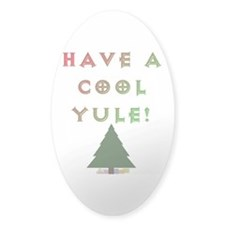 Cool Yule Oval Decal