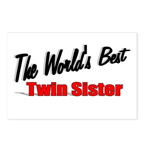 """The World's Best Twin Sister"" Postcards (Package"