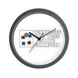 Tennessee Bag Toss State Cham Wall Clock