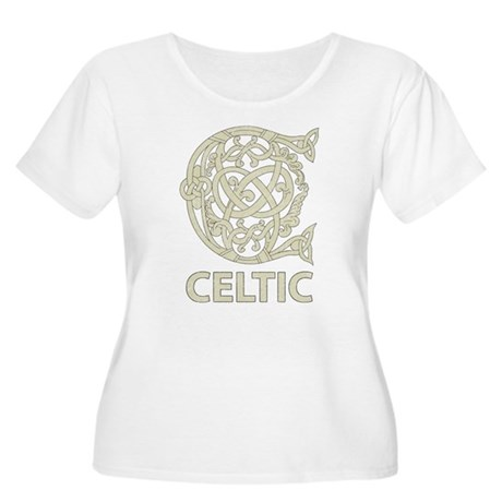 Celtic Capital Letter C Women's Plus Size Scoop Ne