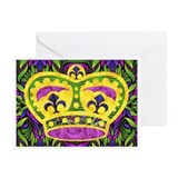 Mardi Gras Crown Greeting Card