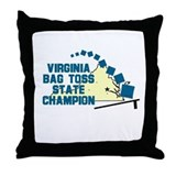 Virginia Bag Toss State Champ Throw Pillow