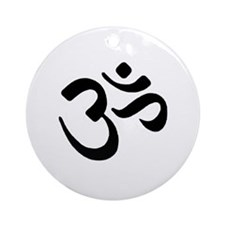 Om black Ornament (Round)