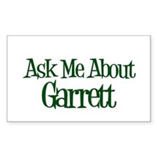 Ask Me About Garrett Rectangle Decal