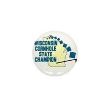 Wisconsin Cornhole State Cham Mini Button