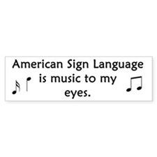 Deaf Music Bumper Bumper Sticker