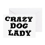 Crazy Dog Lady Greeting Card