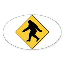 Big Foot Crossing Oval Decal