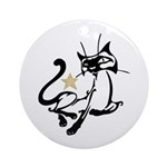 Siamese Cat Royalty Ornament (Round)