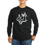 Siamese Cat Royalty Long Sleeve Dark T-Shirt