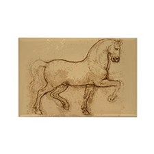 Leonardo Da Vinci Horse Rectangle Magnet