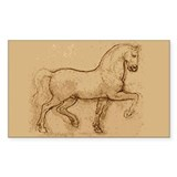 Leonardo Da Vinci Horse Rectangle Decal