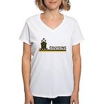 Retro Cruising Women's V-Neck T-Shirt