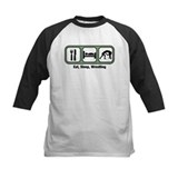 Eat sleep wrestle Baseball Jersey