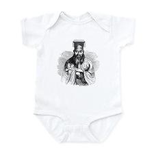 Hand Drawn Confucius Infant Creeper