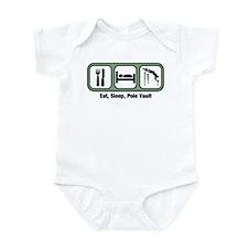 Eat, Sleep, Pole Vault Infant Bodysuit