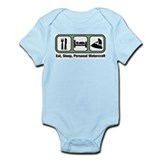 Eat, Sleep, Personal Watercra Infant Bodysuit