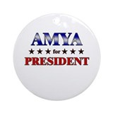 AMYA for president Ornament (Round)