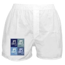 Mountain Biking (blue boxes) Boxer Shorts