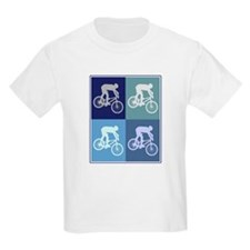 Mountain Biking (blue boxes) T-Shirt