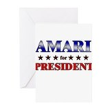 AMARI for president Greeting Cards (Pk of 20)