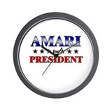 AMARI for president Wall Clock