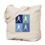 Mens Tennis (blue boxes) Tote Bag