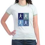 Mens Tennis (blue boxes) Jr. Ringer T-Shirt