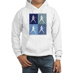 Mens Tennis (blue boxes) Hooded Sweatshirt