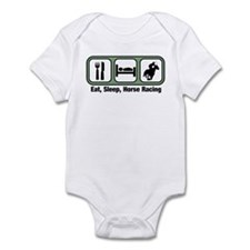 Eat, Sleep, Horse Racing Infant Bodysuit